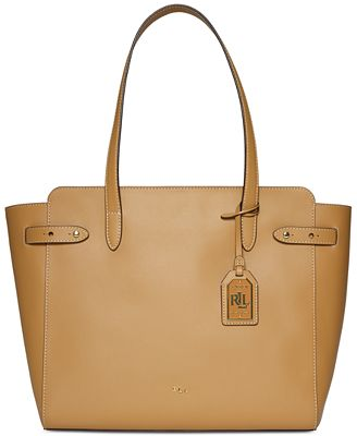 Lauren Ralph Lauren Harper Parker Leather Tote - Handbags ...