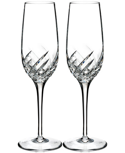 Waterford Essentially Wave Collection Flutes, Set of 2