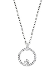 Pavé Circle Crystal Pendant Necklace