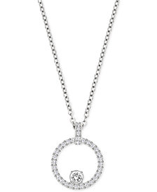 Swarovski Pavé Circle Crystal Pendant Necklace