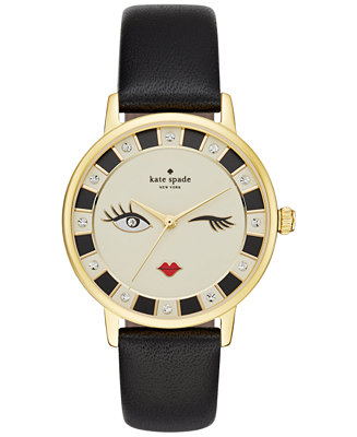 Kate Spade New York Women S Metro Black Leather Strap
