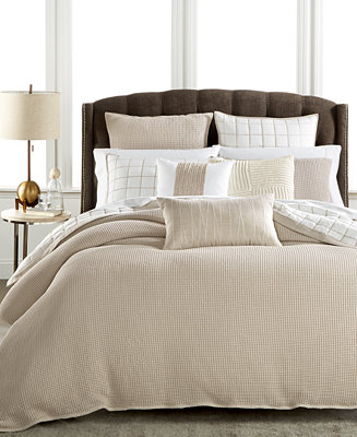 Hotel collection waffle weave duvet covers created for - Ropa de cama lexington ...