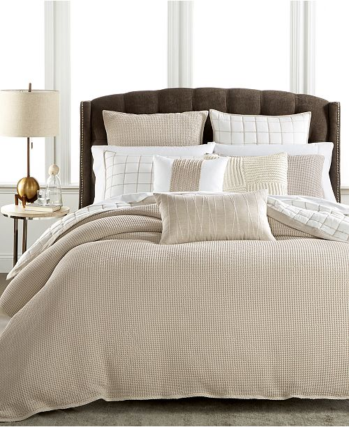 A Stylish Makeover With This Waffle Weave Duvet Covers From Hotel Collection Featuring Soft Cotton Fabric Refined Calming Natural And White Hues