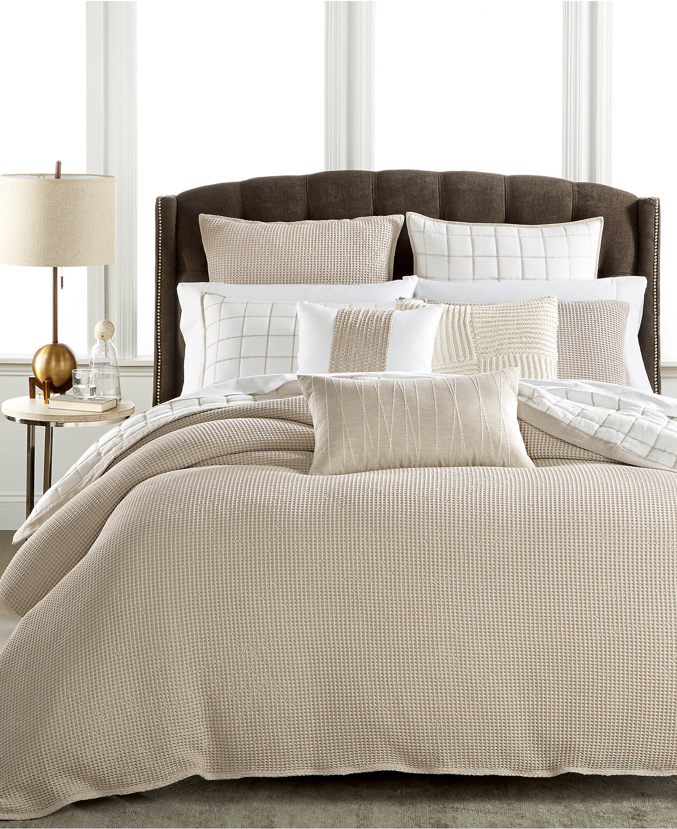 bedding collections hotel collection bedding  bath  macy's - hotel collection waffle weave duvet covers created for macy's