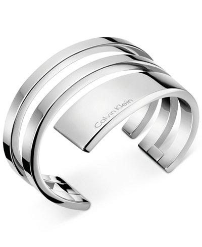 Calvin Klein beyond Silver-Tone Open Bangle Bracelet KJ3UMF00010S