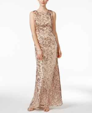 Vintage Evening Dresses and Formal Evening Gowns Vince Camuto Sleeveless Sequined Gown $308.00 AT vintagedancer.com