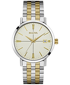 Bulova Men's Two-Tone Stainless Steel Bracelet Watch 36mm 98B255