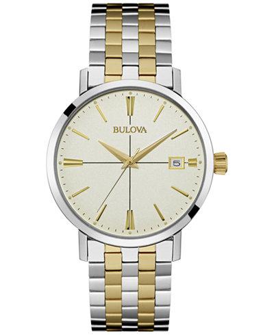 Bulova Men's Two-Tone Stainless Steel Bracelet Watch 36mm 98B255