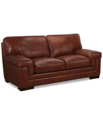 myars leather loveseat