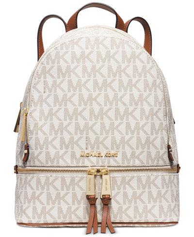 michael michael kors rhea zip medium backpack handbags accessories macy 39 s. Black Bedroom Furniture Sets. Home Design Ideas