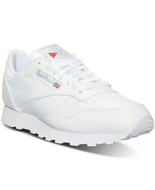 Reebok Men's Classic Leather Casual Sneakers from Finish Line