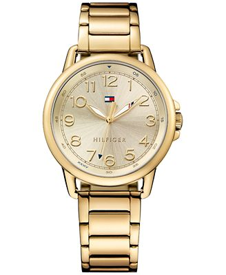 Tommy Hilfiger Women's Casual Sport Gold-Tone Stainless Steel Bracelet Watch 36mm 1781656