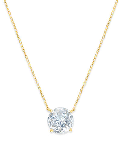 Danori 18k Gold-Plated Crystal Pendant Necklace, Created for Macy's