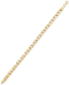 Heart Link Bracelet in 10k Gold
