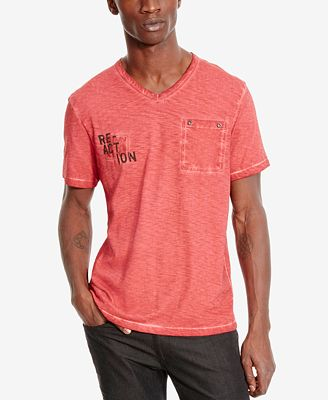 kenneth cole reaction mens stone washed logographic t