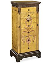 Marien Hand Painted Jewelry Armoire, Quick Ship
