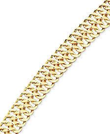 Italian Gold Mesh Bracelet in 18k Gold