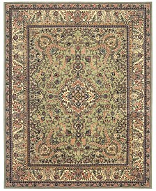 "Nourison Wool & Silk 2000 2005 Light Green 8'6"" x 11'6"" Area Rug"