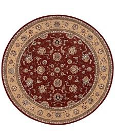 Wool & Silk 2000 2203 Brick 8' Round Rug