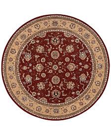 Nourison Wool & Silk 2000 2203 Brick 6' Round Rug