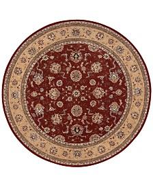 Nourison Wool & Silk 2000 2203 Brick 8' Round Rug