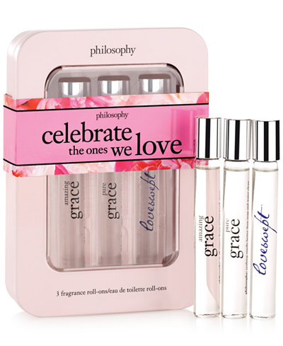 philosophy celebrate love rollerball trio set
