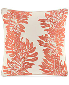"CLOSEOUT! Tommy Bahama Home La Scala Breezer Embroidered 16"" x 16"" Decorative Pillow"