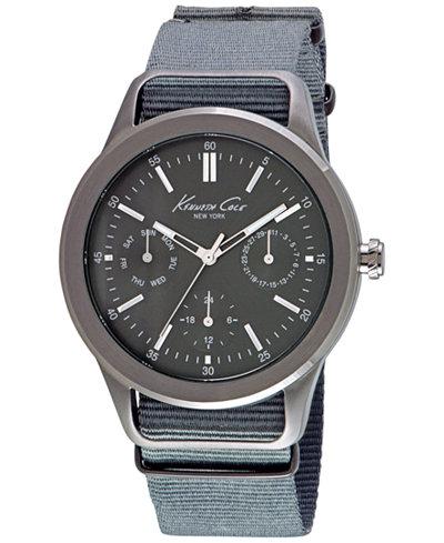 kenneth cole new york men s gray nylon strap watch 44mm 10027885 kenneth cole new york men s gray nylon strap watch 44mm 10027885
