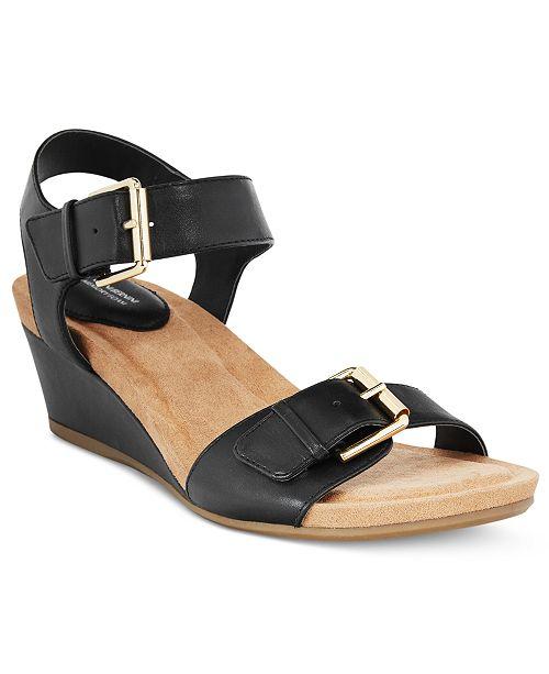 Giani Bernini Bryana Memory Foam Wedge Sandals, Created for Macy's