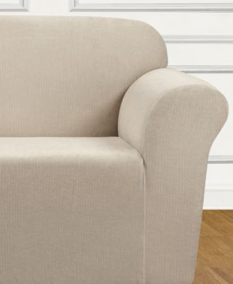 Ultimate Stretch Chenille One-Piece Loveseat Slipcover