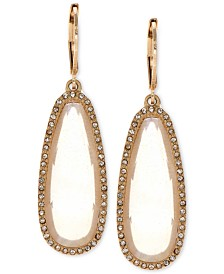 lonna & lilly Large Stone Drop Earrings