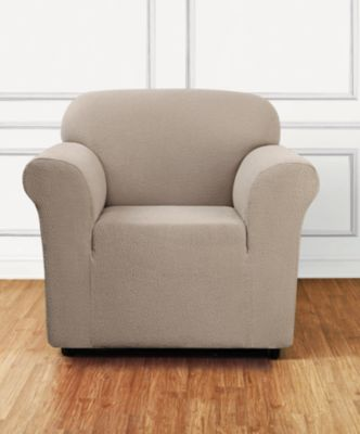 Stretch Delicate Leaf One-Piece Chair Slipcover