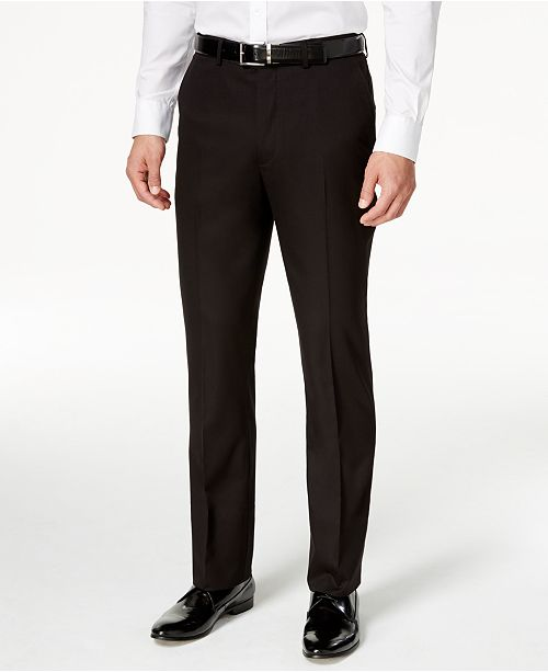 Perry Ellis Portfolio Solid Black Slim-Fit Tuxedo   Reviews - Suits ... 049188065