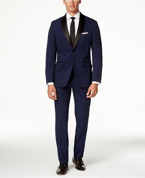 Perry Ellis Portfolio Slim-Fit Solid Navy Tuxedo
