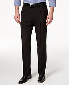 Haggar Classic-Fit ECLO Stria Double Pleated Dress Pants