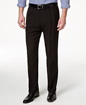 226876839b Haggar Men s ECLO Stria Classic Fit Pleated Hidden Expandable Waistband Dress  Pants