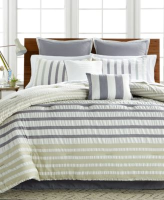 CLOSEOUT! Keita Seersucker 8-Pc Queen Comforter Set