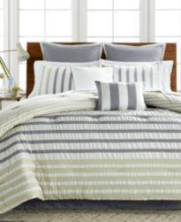 CLOSEOUT! Keita Seersucker 8-Pc Comforter Sets