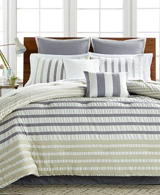 CLOSEOUT! Keita Seersucker 8-Pc California King Comforter Set