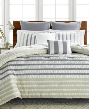 Keita Seersucker 8Pc Queen Comforter Set Bedding