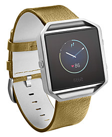 Fitbit Men's Blaze Leather Accessory Band