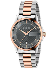 Gucci Unisex Swiss G-Timeless Two-Tone PVD Stainless Steel Bracelet Watch 38mm YA126446