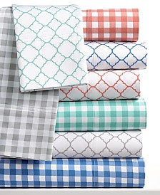 CLOSEOUT! Charter Club Damask Designs 500 Thread Count Printed Wrinkle-Resistant Extra-Deep Sheet Sets, Created for Macy's