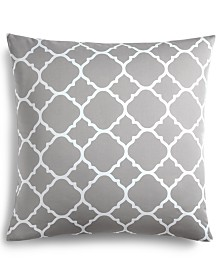 Charter Club Damask Designs Geo Dove European Sham, Created for Macy's