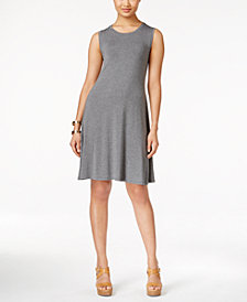 Style & Co. Petite Sleeveless Swing Dress, Created for Macy