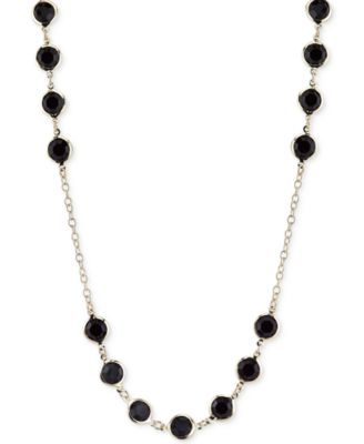 Image of 2028 Gold-Tone Jet Stone Long Length Necklace, a Macy's Exclusive Style