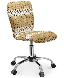 Garwin Faux Fur Task Chair, Quick Ship
