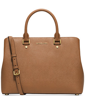 bb0f33c0c981d3 Michael Kors Savannah Large Satchel & Reviews - Handbags & Accessories -  Macy's