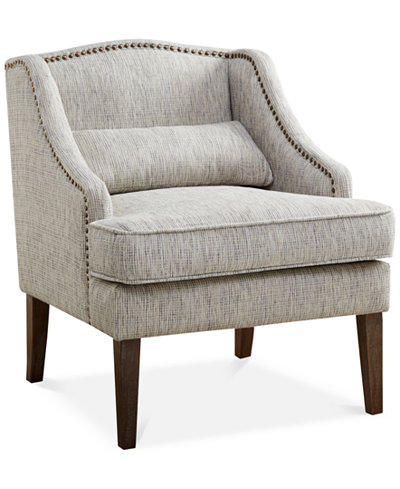 Baylor Swoop Arm Accent Chair, Quick Ship