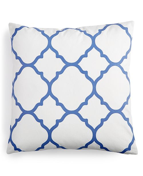 """Charter Club  CLOSEOUT! Geometric 18"""" Square Decorative Pillow, Created for Macy's"""